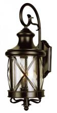 Trans Globe 5120 ROB - Two Light Rubbed Oil Bronze Clear Seeded Glass Wall Lantern