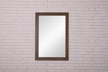 Elegant VM-2003 - 22 in. x 32 in. Wall Mirror in Weathered Oak