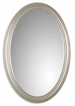 Uttermost 08601 P - Uttermost Franklin Oval Silver Mirror