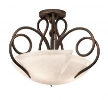 Kalco 4288AC/FROST - Tribecca 3 Light Semi Flush Mount