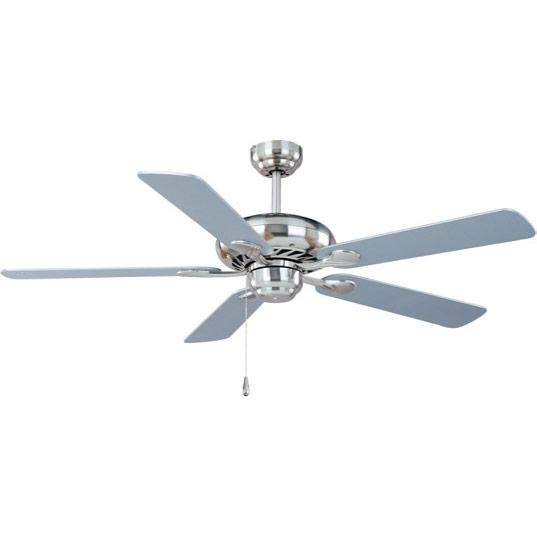 "Super-Max 52"" Ceiling Fan Espresso/Nickel Blades"