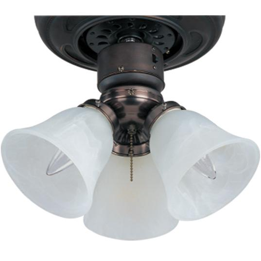 3-Light Ceiling Fan Light Kit with Wattage Limiter