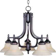 Maxim 10155WSOI - Five Light Bronze Down Chandelier
