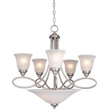 Maxim 11041MRSN - Seven Light Nickel Up Chandelier