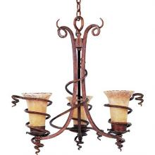 Maxim 11904VADB - Three Light Bronze Up Chandelier