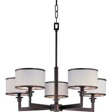 Maxim 12055WTOI - Five Light Bronze Drum Shade Chandelier