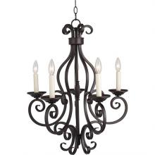 Maxim 12215OI - Five Light Bronze Up Chandelier