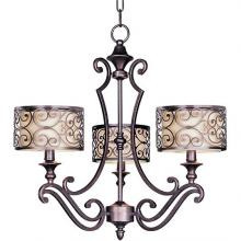 Maxim 21153WHUB - Three Light Bronze Drum Shade Chandelier