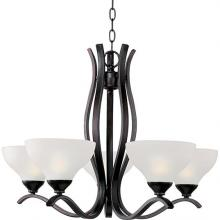 Maxim 21265FTOI - Five Light Bronze Up Chandelier