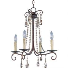 Maxim 22194UR - Four Light Bronze Up Chandelier