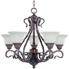 Maxim 2774SVGB - Five Light Bronze Up Chandelier