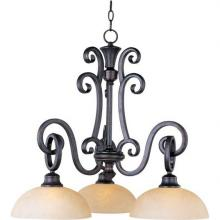 Maxim 32303BLCU - Three Light Bronze Down Chandelier