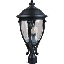 Maxim 41421WGBK - Camden VX 3-Light Outdoor Pole/Post Lantern