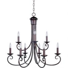 Maxim 70006OI - Nine Light Bronze Up Chandelier