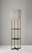 Adesso 3183-21 - Harrison Shelf Floor Lamp