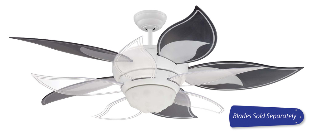 "Bloom 52"" Ceiling Fan in White (Blades Sold Separately)"
