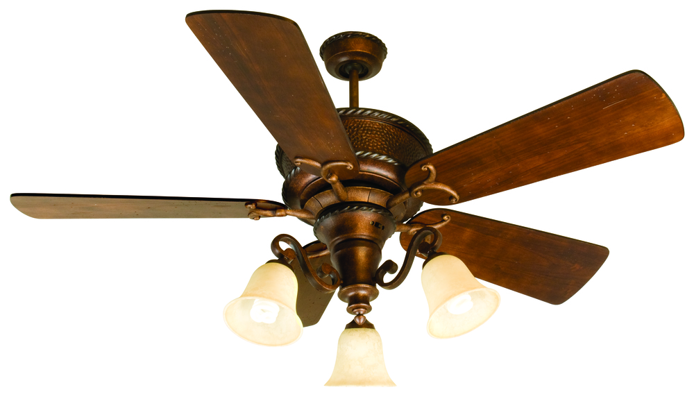 Riata 52 ceiling fan kit with light kit in burnt sienna