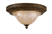 Crystorama 7400-BU - Crystorama Norwalk 3 Light Bronze Umber Flush Mount