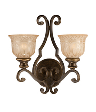 Crystorama 7402-BU - Crystorama Norwalk 2 Light Bronze Umber Sconce