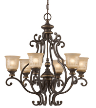 Crystorama 7416-BU - Crystorama Norwalk 6 Light Bronze Umber Chandelier
