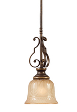 Crystorama 7421-BU - Crystorama Norwalk 1 Light Bronze Umber Pendant