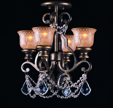 Crystorama 7504-BU-CL-MWP_CEILING - Crystorama Norwalk 4 Light Clear Crystal Bronze Ceiling Mount