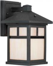 Forte 17019-01-04 - One Light Black Honey  Panels Glass Wall Lantern