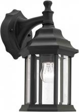 Forte 1715-01-04 - One Light Black Clear Beveled  Panels Glass Wall Lantern