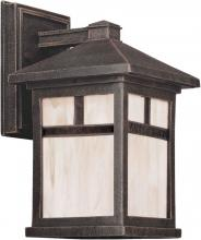 Forte 1773-01-28 - One Light Painted Rust Honey  Panels Glass Wall Lantern