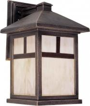 Forte 1797-01-28 - One Light Painted Rust Honey  Panels Glass Wall Lantern