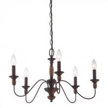 Quoizel HK5005TC - Five Light Brown Up Chandelier