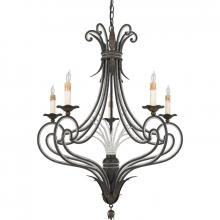Quoizel RBT5005SM - Five Light Black Up Chandelier