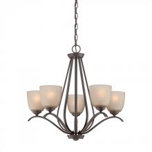 Quoizel RL5005WT - Five Light Bronze Up Chandelier