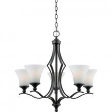 Quoizel SR5005IN - Five Light Black Up Chandelier