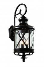 Trans Globe 5121 ROB - Three Light Rubbed Oil Bronze Clear Seeded Glass Wall Lantern