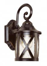 Trans Globe 5129 ROB - One Light Rubbed Oil Bronze Clear Seeded Glass Wall Lantern