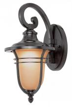 Trans Globe 5700 ROB - One Light Rubbed Oil Bronze Amber Frost Glass Wall Lantern