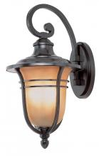 Trans Globe 5708 ROB - Four Light Rubbed Oil Bronze Amber Frost Glass Wall Lantern