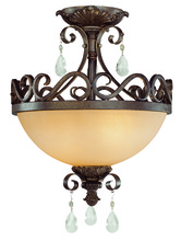 Jeremiah 25622-FR - Englewood 2 Light Convertible Semi Flush/Pendant in French Roast