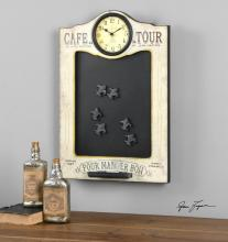 Uttermost 13991 - Uttermost Cafe De La Tour Chalkboard And Clock
