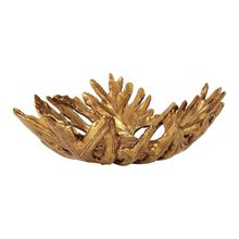 Uttermost 18615 - Uttermost Oak Leaf Metallic Gold Bowl