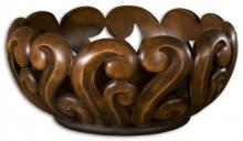 Uttermost 19493 - Uttermost Merida Wood Tone Decorative Bowl