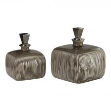 Uttermost 18938 - Uttermost Cayson Ribbed Ceramic Bottles, S/2