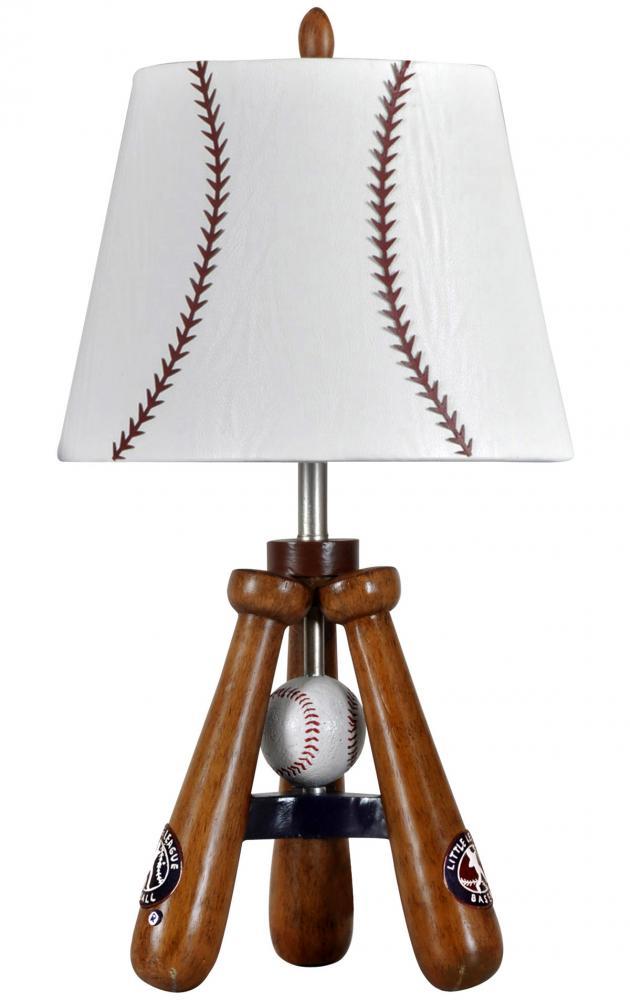 Baseball Theme Lamp With Bat And Ball Stand